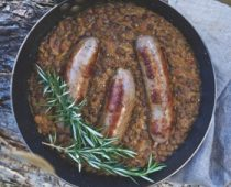 Turmeric Lentils and Sausages