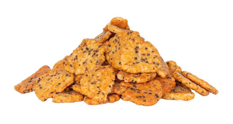Black Sesame Seed Crackers